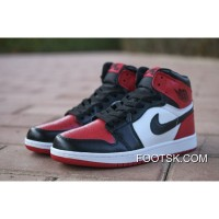 Latest Nike Air Jordan 1 AJ1 Is Action Leather Toe Black Red