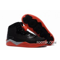 "Top Deals Jordan Air Spike 40 Forty PE ""Bred"" Black/Fire Red/Cement Grey"