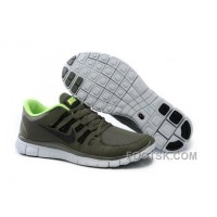 Nike Free 5.0 Mens Army Green Fluorescence Green Running Shoes Discount