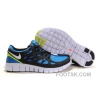 Nike Free Run+ 2 Mens Running Shoes Black White Blue Yellow New Release