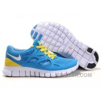 Nike Free Run+ 2 Mens Running Shoes Blue White Yellow New Release