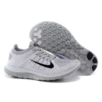 2015 Nike Free Flyknit 4.0 Mens Running Shoes Newest On Sale Couples Sneaker White Grey Black