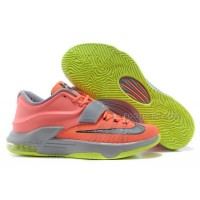 "Nike Kevin Durant KD 7 VII ""35000 Degrees"" Bright Mango/Space Blue/Light Magnet Grey For Sale Discount Online"