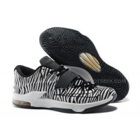 "Cheap Nike KD 7 EXT ""Zebra"" Black-White For Sale Discount Online"