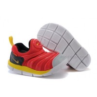 Nike Anti Skid Kids Wearable Breathable Caterpillar Running Shoes Chinese Red Black Yellow