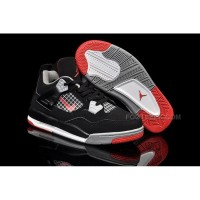 Nike Air Jordan 4 Kids Black Grey Red