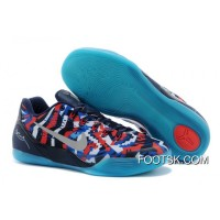 """New Release Nike Kobe 9 EM """"Independence Day"""" White/Metallic Silver-Hyper Cobalt-Action Red"""