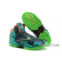 "Nike LeBron 11 ""Miami Vs Akron"" Brave Blue/Green Glow-Mineral Teal-Atomic Pink Best"