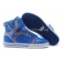 Supra Skytop Blue White Scale Men's Shoes Online