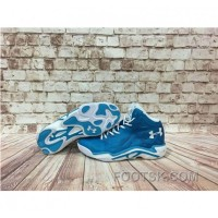 Under Armour Anatomix Spawn 2 Blue White Sneaker Authentic TH7W7D