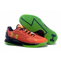 Under Armour Curry One Low Kids Shoes Orange Green Sneaker Lastest EDzpj3