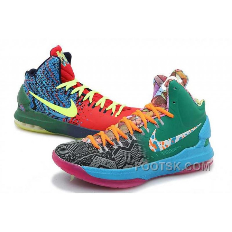 Nike KD V Mandarin Duck Mens Green Blue Orange Christmas Deals ...