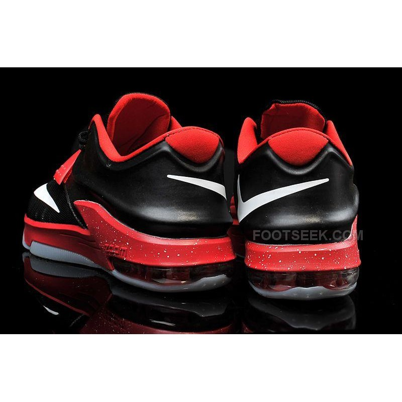 8dee5d7d42f7 ... Cheap Nike KD 7 Black Bright Red White Mens Basketball Shoes Discount  Online ...
