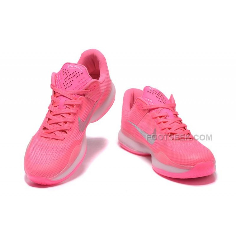 "huge discount abcdd 723e1 ... High quality Nike Kobe 10 ""Think Pink"" PE Pink White-Silver Hot ..."