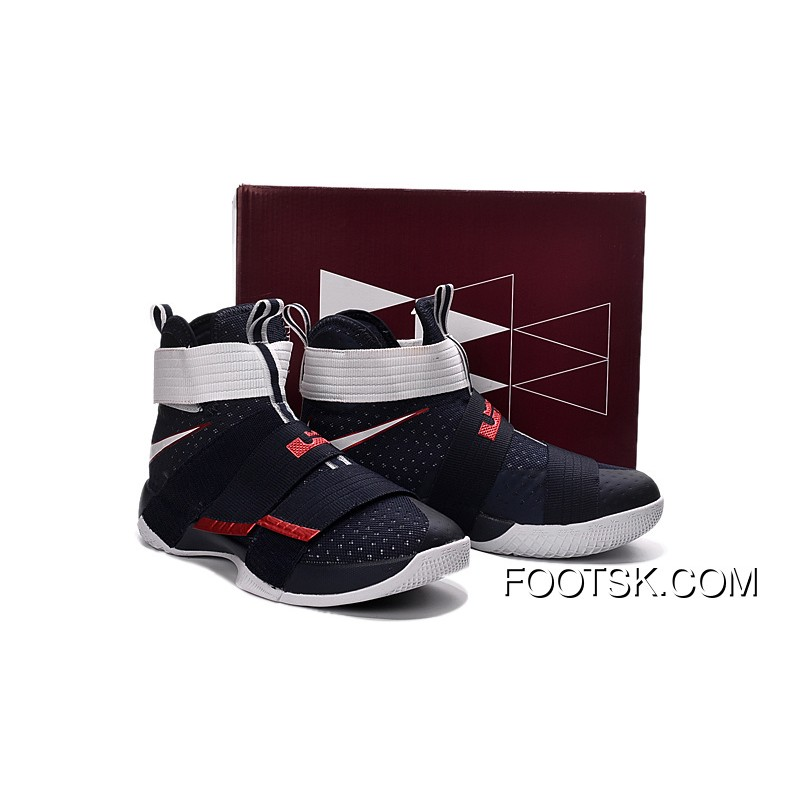 40538f17068 ...  USA  Nike LeBron Soldier 10 Obsidian White-University Red Super Deals  XFNCsp    ...