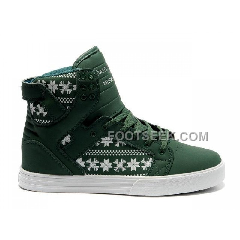 Supra Shoes White And Green