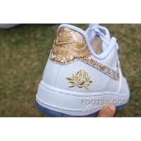Air Force 1 Chinese New Year White Gold Peony Lastest