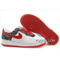 Women's Nike Air Force 1 Low Shoes White/Red/Black Online