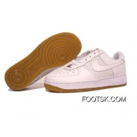 Women's Nike Air Force 1 Low Shoes White/Wheat Authentic
