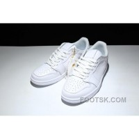 AIR Jordan 1 Air Retro Low Ns 872782-100 All White Authentic