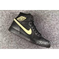 "Air Jordan 1 High ""BHM"" Metallic Gold/Black-White Best"