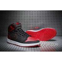 "Air Jordan 1 High ""Wool"" Black Red On Sale Lastest"