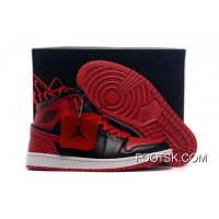 Discount Air Jordans 1 High Chicago Bulls Black/Varsity Red Shoes