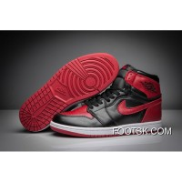 "2016 ""Banned"" Air Jordan 1 GS Black/Varsity Red-White For Sale CKmsmF"