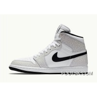 "2016 ""Elephant Print"" Air Jordan 1 High White/Pure Platinum New Style WKJfF"