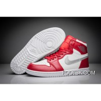 "2016 ""Silver Medal"" Air Jordan 1 Retro High Gym Red/Metallic Silver-White New Release 8DQE5"