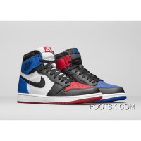 "2016 ""Top 3 "" Air Jordan 1 Retro High OG Black/Varsity Red-Varsity Royal New Release FWpr3Xx"