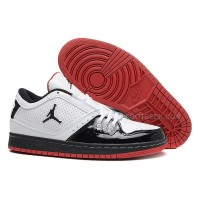 New Nike Sneakers Air Jordan 1 Low White Black Red Cheap Sale
