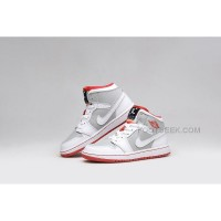 "New Release Air Jordan 1 Mid ""Hare"" White/Light Silver/Black/True Red"