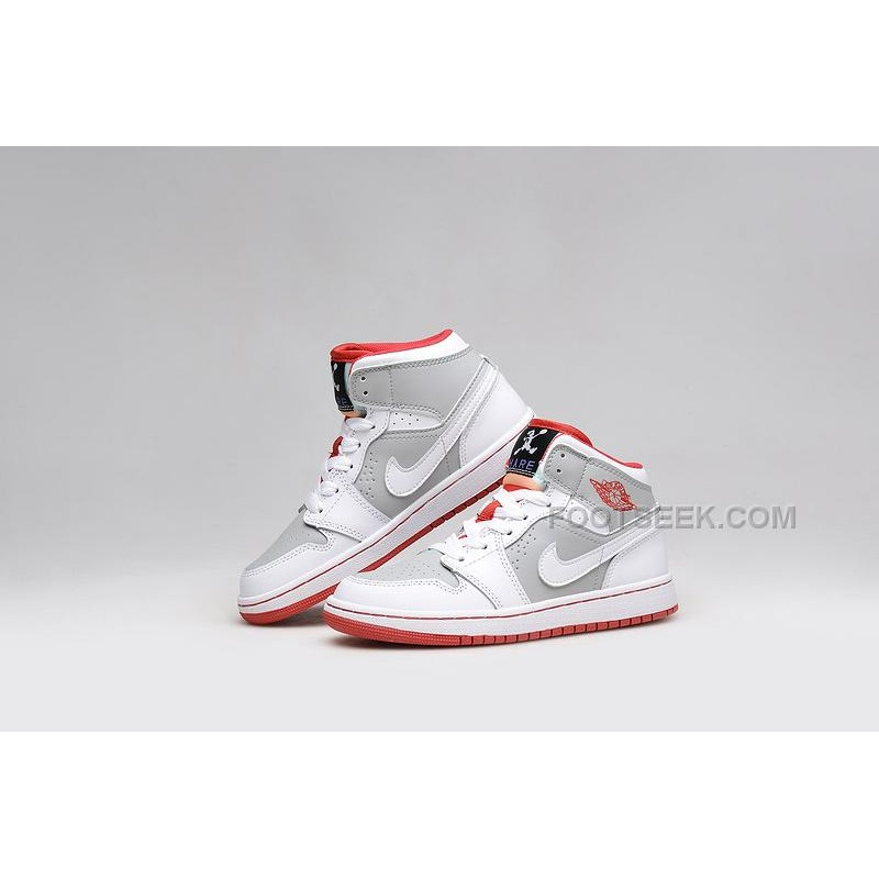 New Release Air Jordan 1 Mid Hare WhiteLight SilverBlack