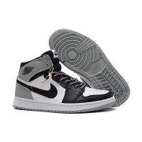 "Air Jordan 1 (I) ""Barons"" White/Black-Neutral Grey For Sale Online"