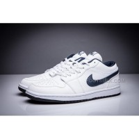 Air Jordan 1 Retro Low OG White/Midnight Navy Blue Leather New Arrivals
