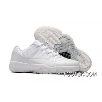 "Lastest Air Jordan 11 Low ""Frost White"" White/White-Pure Platinum"