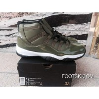 Air Jordan 11 Olive Green Lastest