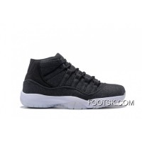 2016 Air Jordan 11 Wool Dark Grey/Metallic Silver-Black New Release YPMPw