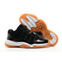 "Nike Air Jordan 11 Low ""Gum Bottom"" Black/White Basketball Shoes"