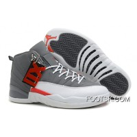 Copuon Code Air Jordans 12 Retro Cool Grey/Total Orange-White