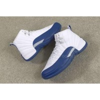 "Air Jordan 12 White ""French Blue"""