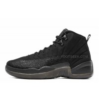 "Air Jordan 12 Retro ""OVO"" All Black Cheap For Sale Online"