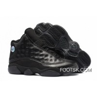 Air Jordan 13 All Black Leather New Release CA3ks6