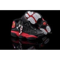 Air Jordan 13 XIII Retro Women Shoes Black Red