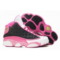 Air Jordan 13 XIII Retro Women Shoes Black Pink