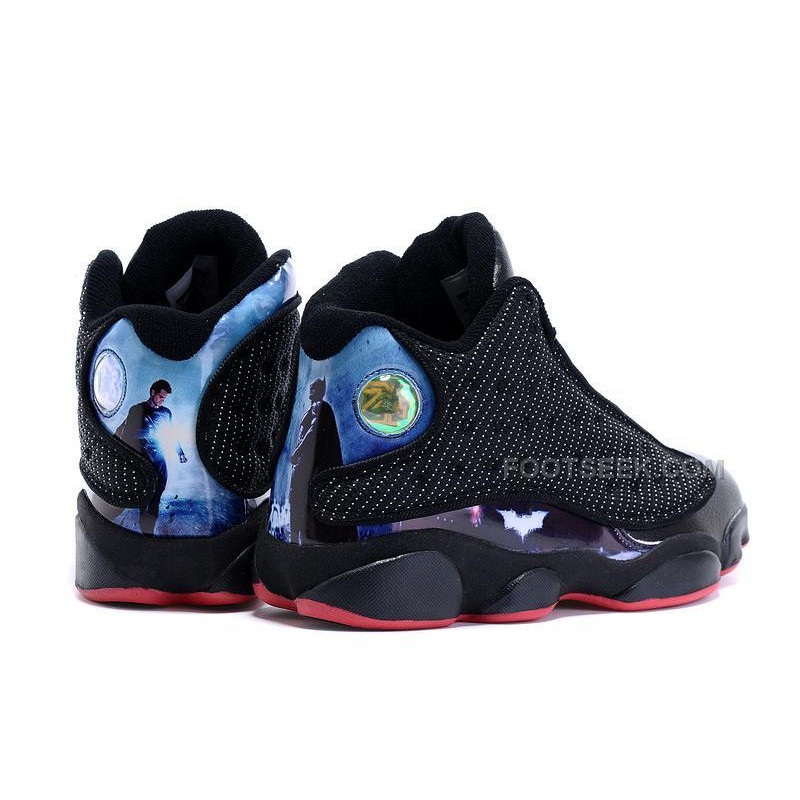 outlet store 26725 e6298 Air Jordan 13 Collectors Edition Retro Dawn Justice Mens Sneakers Black  Blue Basketball Shoes