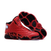 Air Jordan 13 XIII Retro Ray Allen Heat Mens Sneakers All Red Basketball Shoes