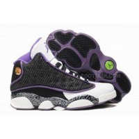 Air Jordan 13 XIII Retro Women Shoes Grey White Purple