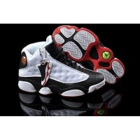 Air Jordan 13 XIII Retro Women Shoes White Black